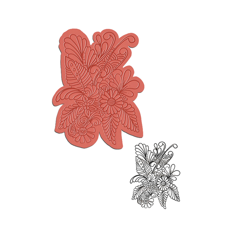 YaMinSanNiO Plant Flower Clear Stamps And Metal Cutting Dies Stencils Dies Scrapbooking Photo Album Embossing DIY Cards Dies New