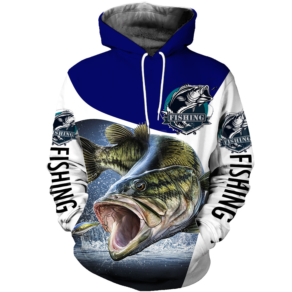 Tessffel New Fashion Animal Fishing Art Harajuku Casual Tracksuit Funny 3D Print Zipper/Hoodie/Sweatshirt/Jacket/Mens Womens S-6