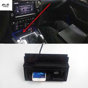 10W Qi Draadloze Opladen Telefoon Oplader Snel Opladen Plaat Panel Telefoon Houder Voor 2017-2019 Volkswagen Vw Passat b8
