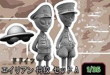 Ensemble officier moderne non peint en résine, kit de figurines miniatures gk, non peint, 1/35