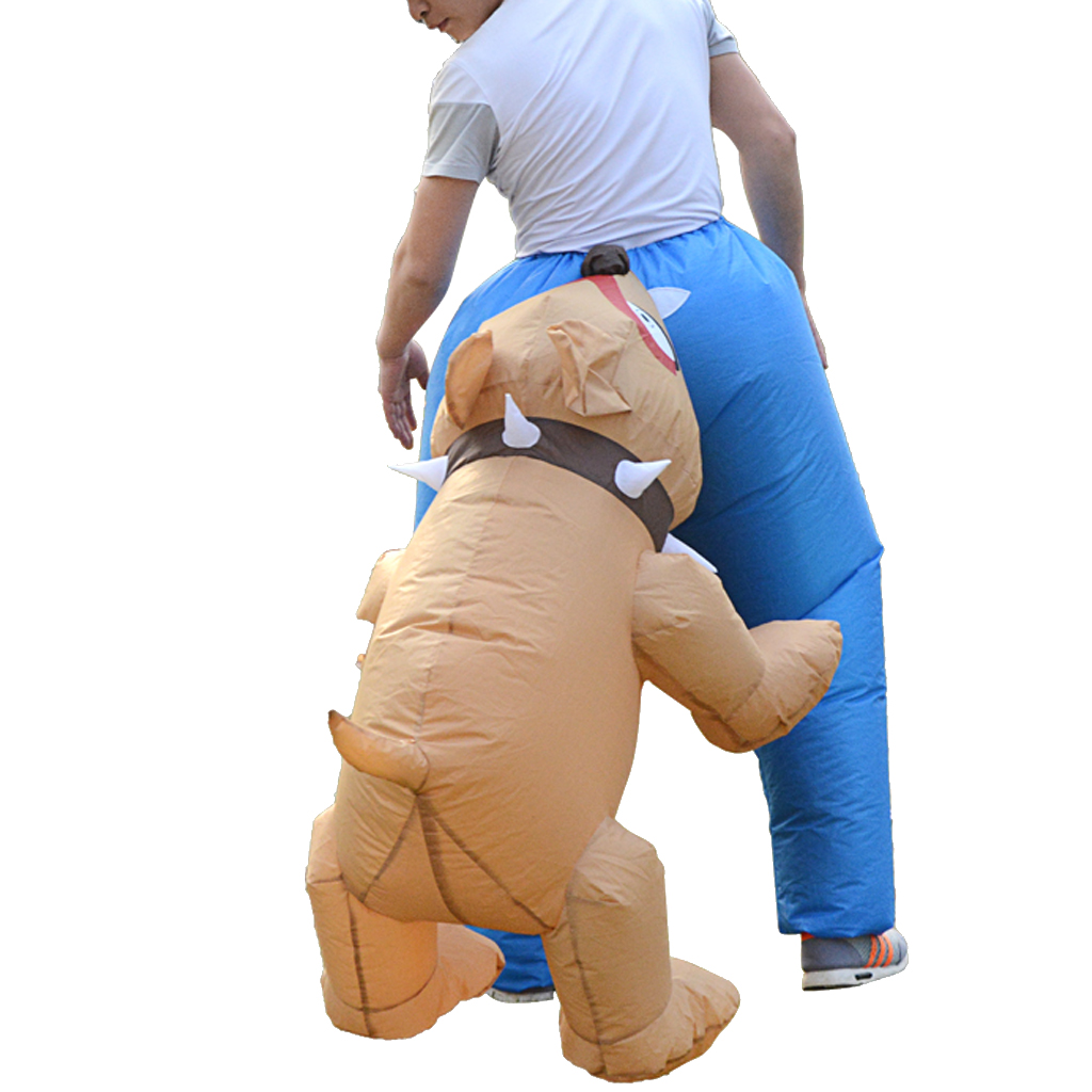 Adult Inflatable Costume Dog Bite People Halloween Unisex Outfit Cosplay Costume For Adult Inlatable Costume Party Festival Stag