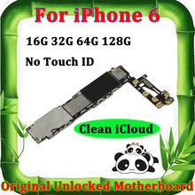 Original Motherboard For iPhone 6 4.7'' 16g 32g 64g 128g Clean iCloud Unlock Mainboard NO Touch ID Full Chips Logic Mother Board(China)