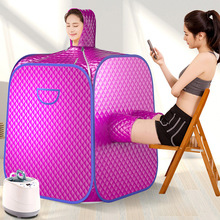 Healthy Steam Sauna Portable Spa Room Home Beneficial Full Body Slimming Folding Detox Therapy Steaming Sauna Cabin 2 person