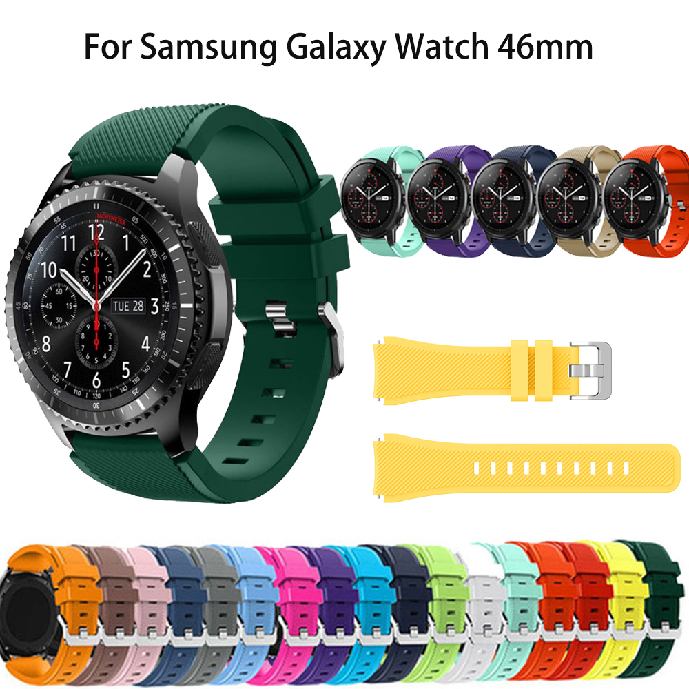 Soft Silicone Watch Band For Samsung Gear S3 Frontier/Classic Strap Replacement Bracelet For Samsung Galaxy Watch 46mm Wristband