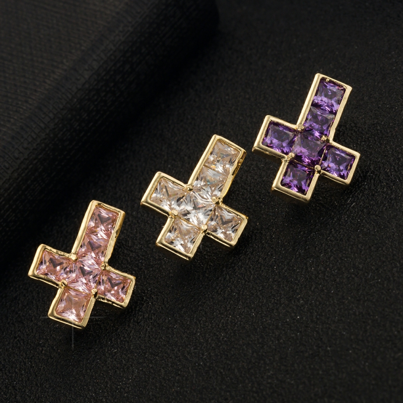 Zircon Crystal Cross Belly Button Rings Women Piercing Body Jewelry No Allergies Stainless Steel Navel Rings Nombril Accessories      - AliExpress