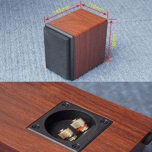 Image 3 - KYYSLB 10 20W 4 8 Ohm 3 pouces gamme complète haut parleur Hifi AS 3Q 1 3 pouces amplificateur de puissance haut parleur passif Grain de bois noir une paire