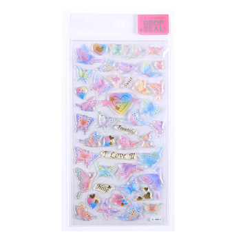1pcs Kawaii Stationery Stickers butterfly 3D Diary Planner Travel Decorative Mobile Sticker Scrapbooking DIY Craft Stickers image