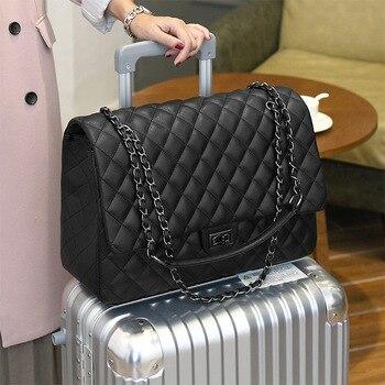 Caker Brand 2020 Women Large Big PU Leather Handbag Chain Bags Drop Shipping