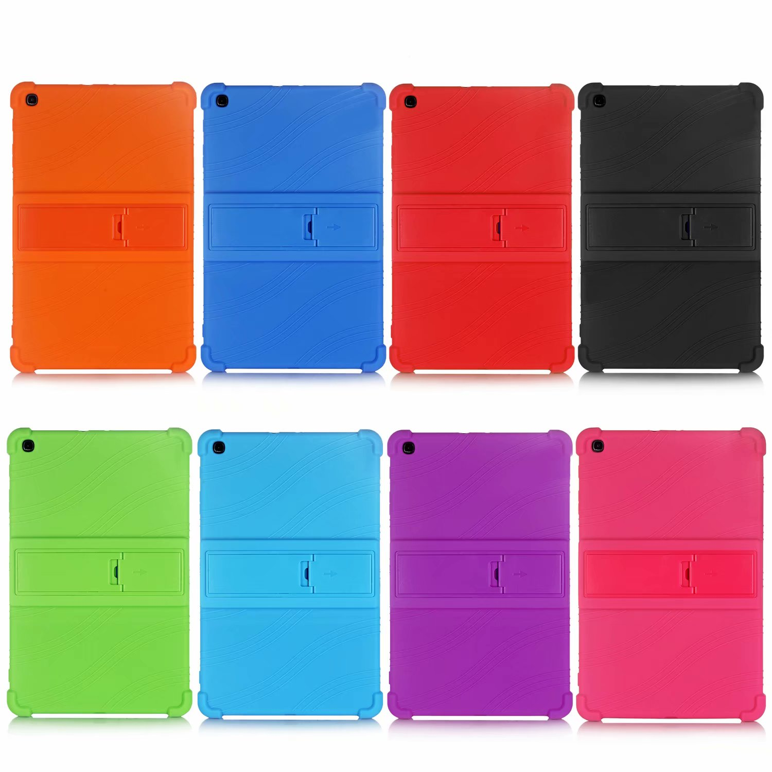 Shockproof Silicon Cover Case For Samsung Tab A 10.1''2019 Tablet case for Samsung Galaxy Tab A 2019 SM-T510 SM-T515 T510 Funda image