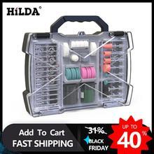 Hildaロータリーdremelミニドリルビットセット用研磨工具研削サンディング研磨切削工具キット