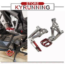 Motorcycle CNC Rear foot Rear set Footrest FOR HONDA X ADV 750 300 1000 XADV 2017-2019 Foot Pegs Pedal Passenger Rearsets logo 1 set motorcycle front footrest pedal foot pegs foot pegs pedals for honda cb250 cbr600f cb600f nc700