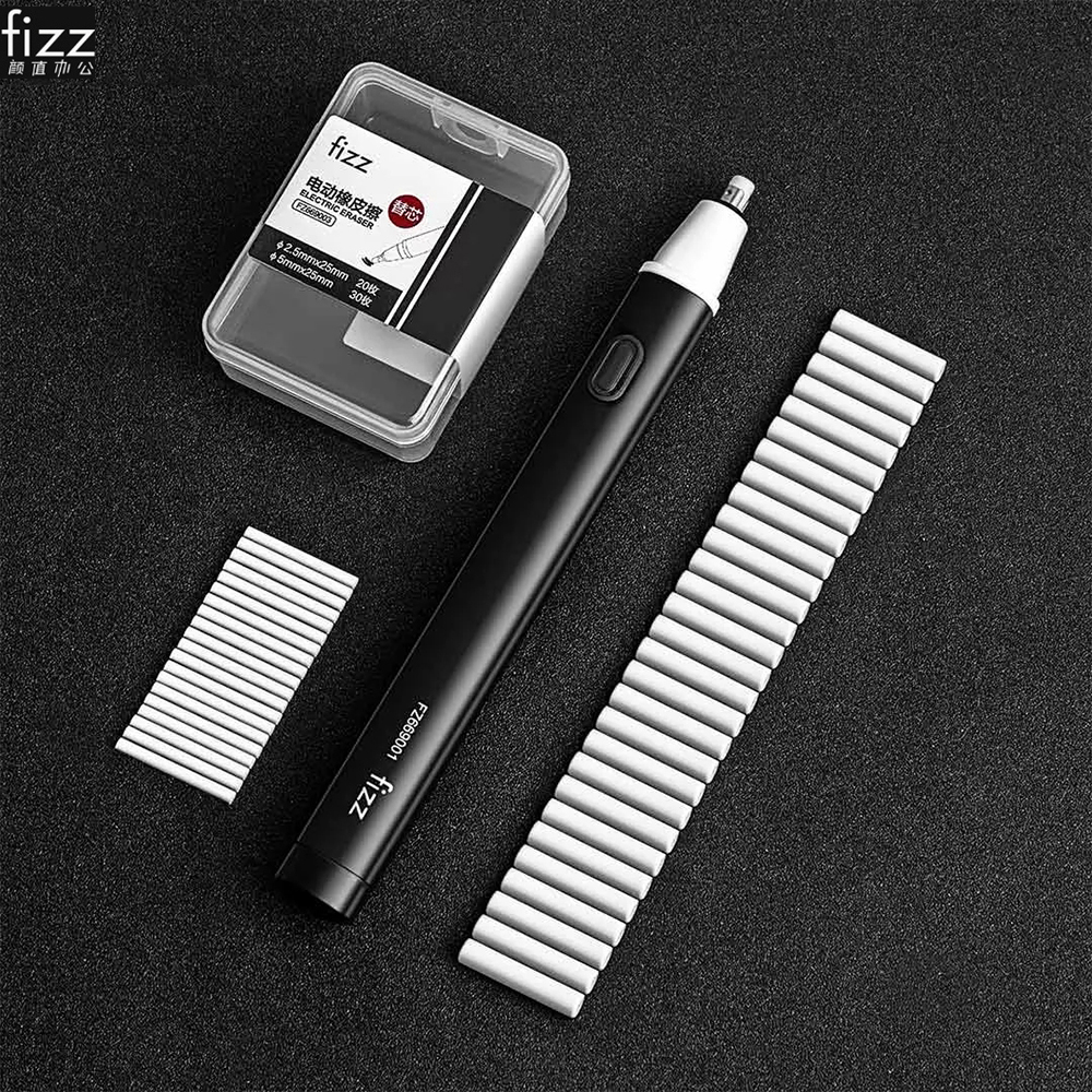 Youpin Fizz Electric Eraser Pencil Drawing Mechanical Electric Eraser for Kid Students School Office Rubber Pencil Eraser Refill