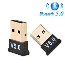 Usb bluetooth 5.0 adaptador transmissor bluetooth receptor de áudio bluetooth dongle adaptador usb sem fio para computador portátil pc d