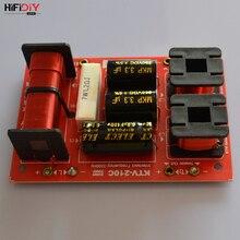 HIFIDIY KTV-210C 2 Way 3 speaker Double treble (Tweeter*2+ bass) Unit HiFi KTV Speakers audio Frequency Divider Crossover Filter
