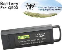 Original gifi 3s 11.1v 7500mah atualizar vôo lipo bateria para yuneec q500 4k rc zangão