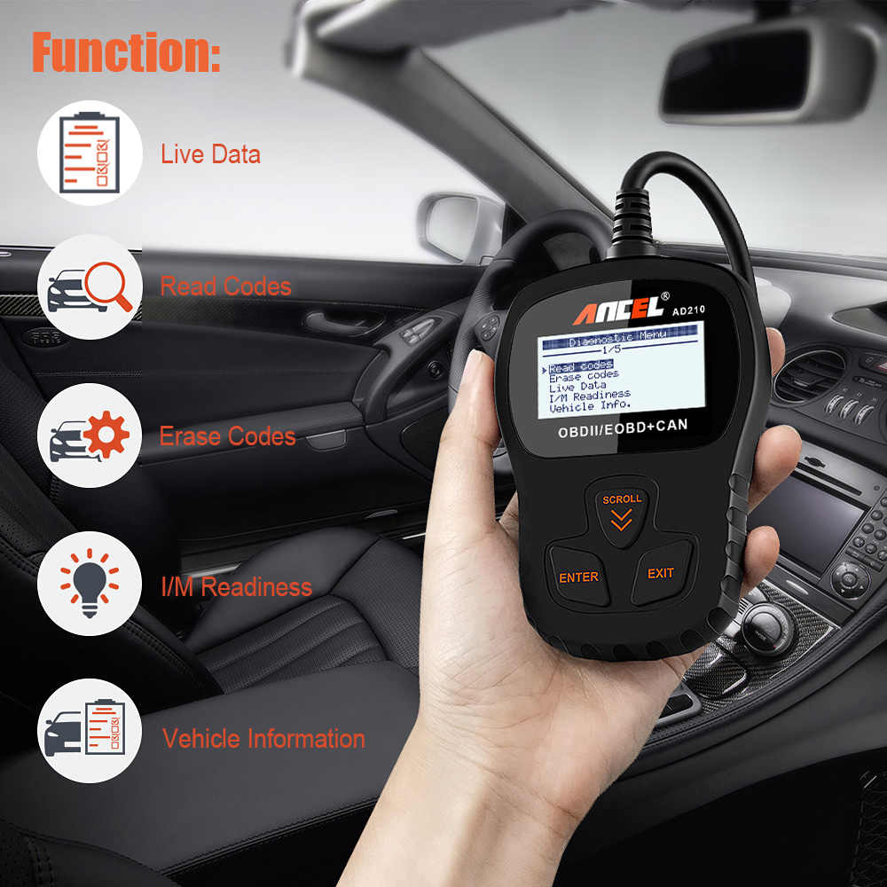 Ancel OBD2 tarayıcı araç teşhis aracı profesyonel OBD OBD 2 otomatik tarama aracı ücretsiz güncelleme çevrimiçi otomotiv tarayıcı