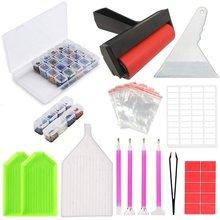 Boîte de rangement pour peinture diamant 5D, outils et accessoires de broderie, pour adultes ou enfants