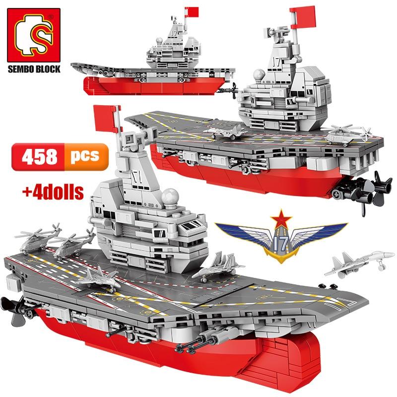 SEMBO Block WW2 Weapon Warship Ship Building Blocks