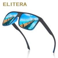 ELITERA DESIGN Men Polarized Rectangle Sunglasses 100% UV Protection