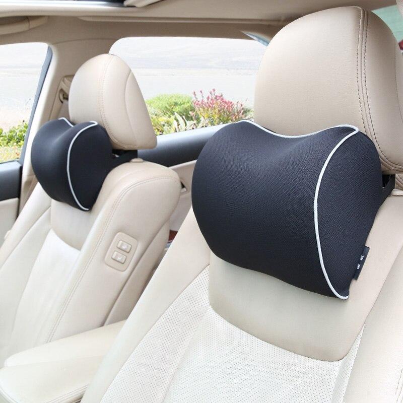 Универсальная автомобильная подушка для шеи, подголовник для путешествий, массажная подушка, тканевый чехол для сиденья, Мягкая головка из ...