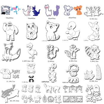 Przytulanki zwierzęta myszy kot Koala Puppy Panda lew Fox Alpaca Bunny wiewiórka słoń kaczka ryby DIY Craft szablon 2020 nowy #21 tanie i dobre opinie CN (pochodzenie) Zwierząt fish Nieregularny rysunek koło litera metal cutting dies Carbon steel metal cutting dies for DIY