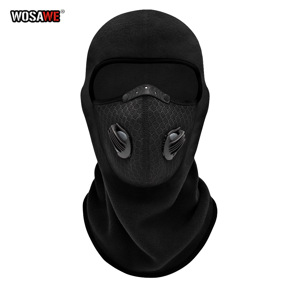 Winter Motorcycle Balaclava Full Face Mask Fleece Windproof Moto Motocross Face Shield Hat Neck Warmer Helmet Skiing Face Mask