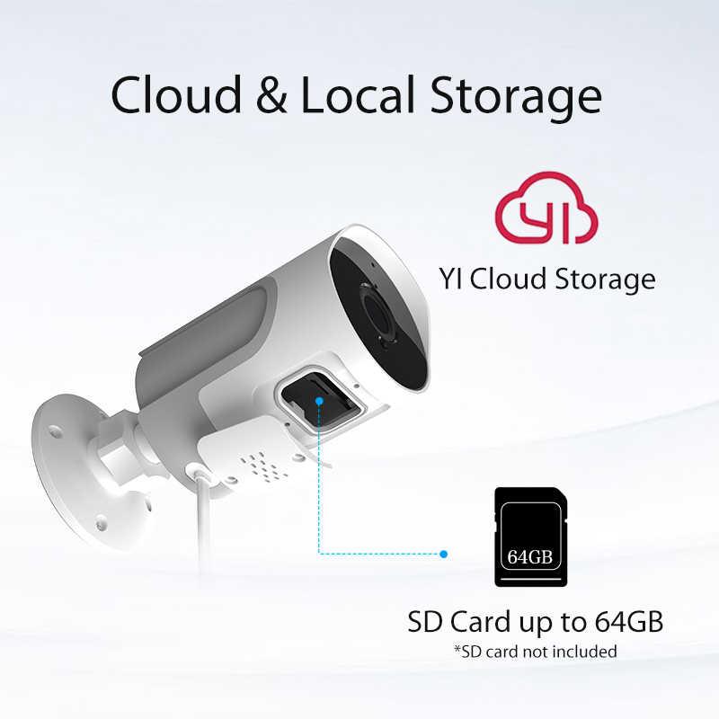 كاميرا IP خارجية عالية الدقة 1080p من YI loT كاميرا مراقبة أمنية مانعة لتسرب الماء رؤية ليلية تطبيق YI Cloud YI IOT