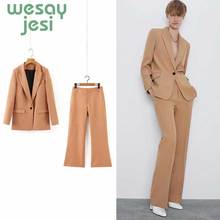 цена на blazer Femme Jackets Women Blazer chic Long Sleeve Solid color One Button Coat Slim Office Lady Jacket Female Tops Suit
