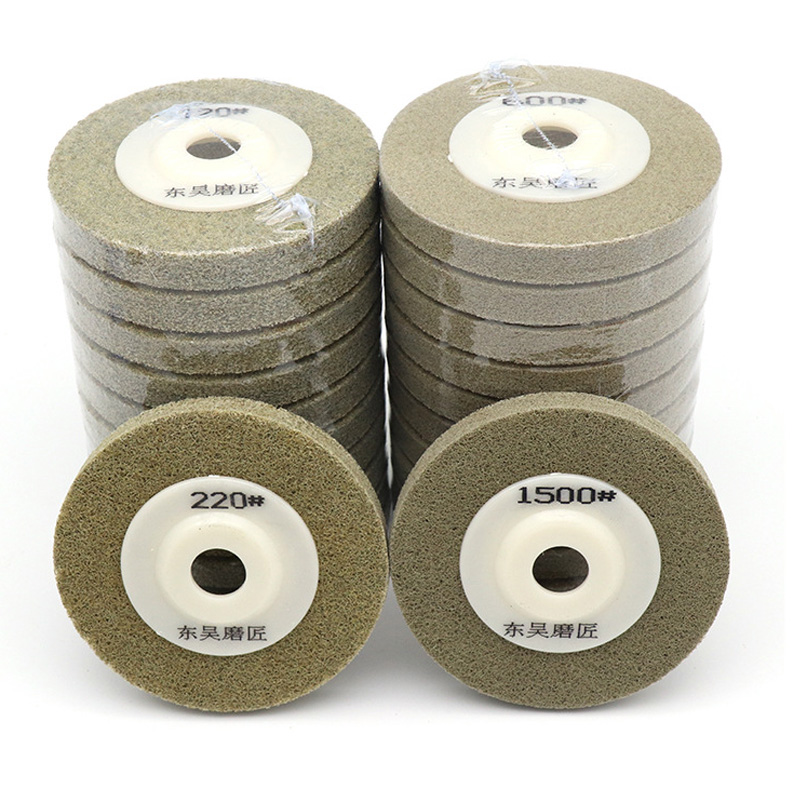 1pcs 100x16mm Nylon Fiber Polishing Wheel Grinding Disc Abrasive Tools Materials Surface Decoration For Angle Grinder