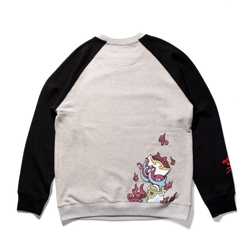 Round Neck Oversized Sweatshirt For Men Streetwear Cloting Printing Great Sage Equalling Heaven School Fashion Men's Sweatshirt