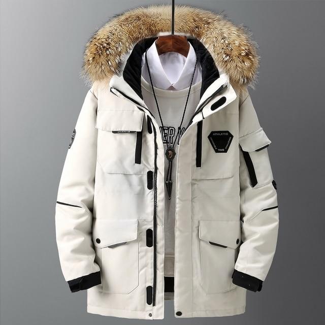 Large size loose coat Men Winter Jacket Men Hooded Duck Down Jacket Male Windproof Parka Thick Warm Overcoat coats 5858 3