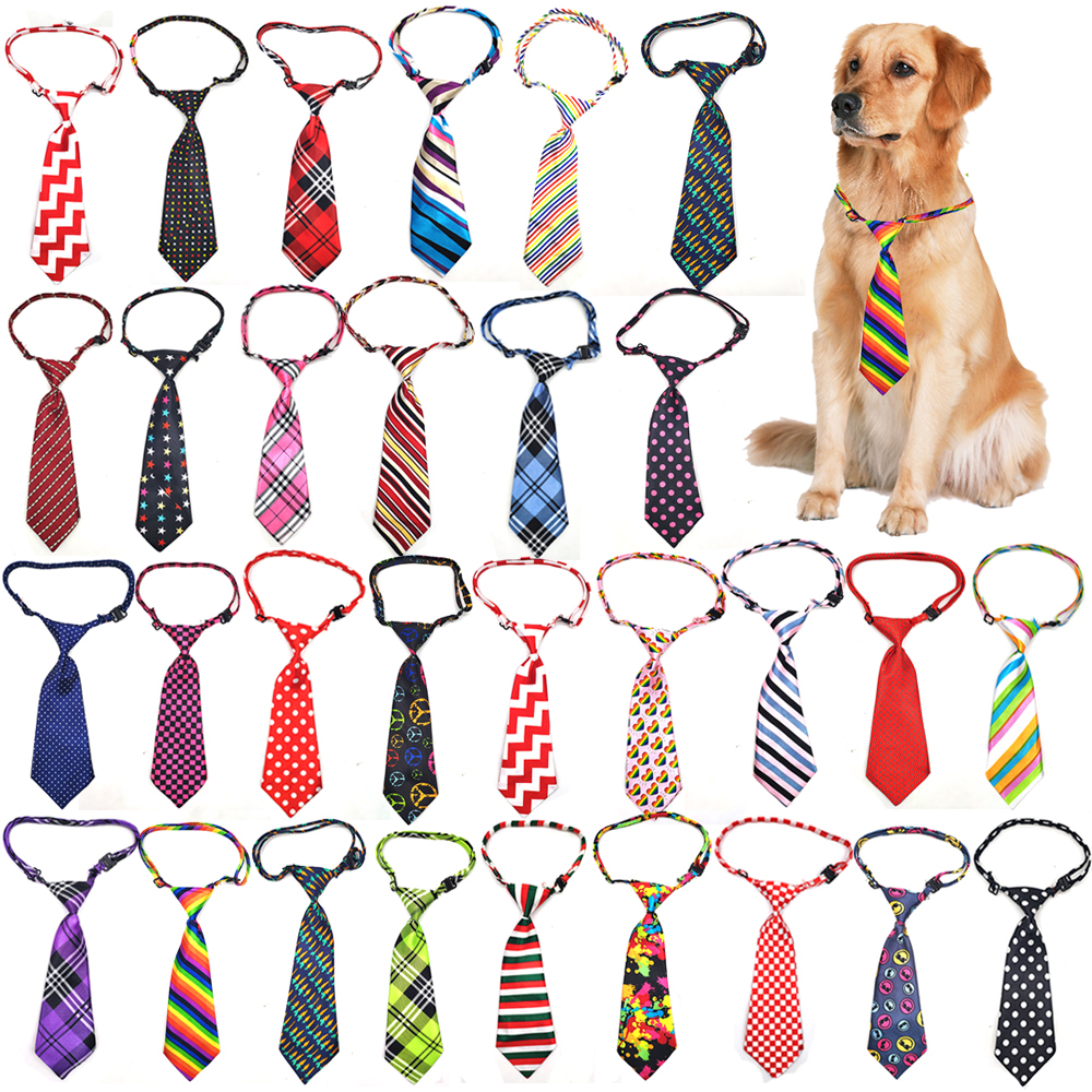 30 Pcs Pet Accessories New Size Mix Pattern Pet Dog Necktie Adjustable Necktie For Middle Large Dog Puppy Dog Bow Ties Supplier