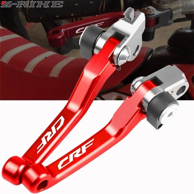 Motocicleta cnc boleto dobrável pivô embreagem alavanca do freio punho para honda crf150f crf230f 2003 17 crf250r 2007 18 crf f bicicleta da sujeira