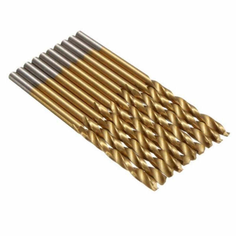 Twist Drill Bit Set Straight Handle High Speed Steel Drilling Power Tool Kit For Wood Plastic Aluminium Alloy Angle Iron Plastic in Drill Bits from Tools