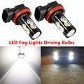 2x H8 H10 H11 светодиодный HB4 9006 HB3 9005 туман светильник s лампы 10SMD 50 Вт 1200LM 6000K белый вождение автомобиля ходовой огонь H4 H7 H16 светодиодный светильни...