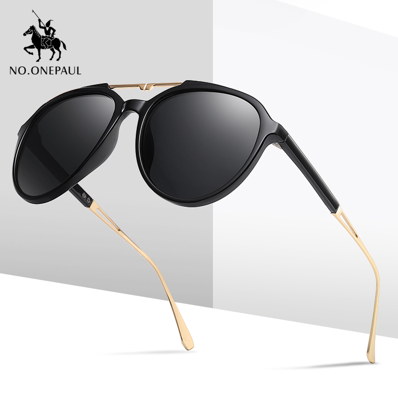 NO.ONEPAUL Glasses Vintage Driving Travel Fishing Classic Sun Glasses New Luxury Polarized Sunglasses Men's Driving Shades Male