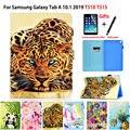 Чехол для Samsung Galaxy Tab A 10 1 2019 T510 T515 SM-T510 SM-T515 чехол Funda модный окрашенный PU кожаный чехол-подставка + подарок