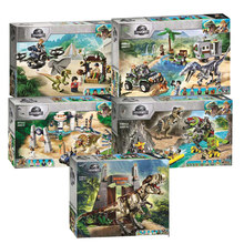 Jurassic World Park Baryonyx Face-Off Treasure Hunt Legoinglys ที่เข้ากันได้ Jurassic World 75934 75938 75937 Building Blocks(China)