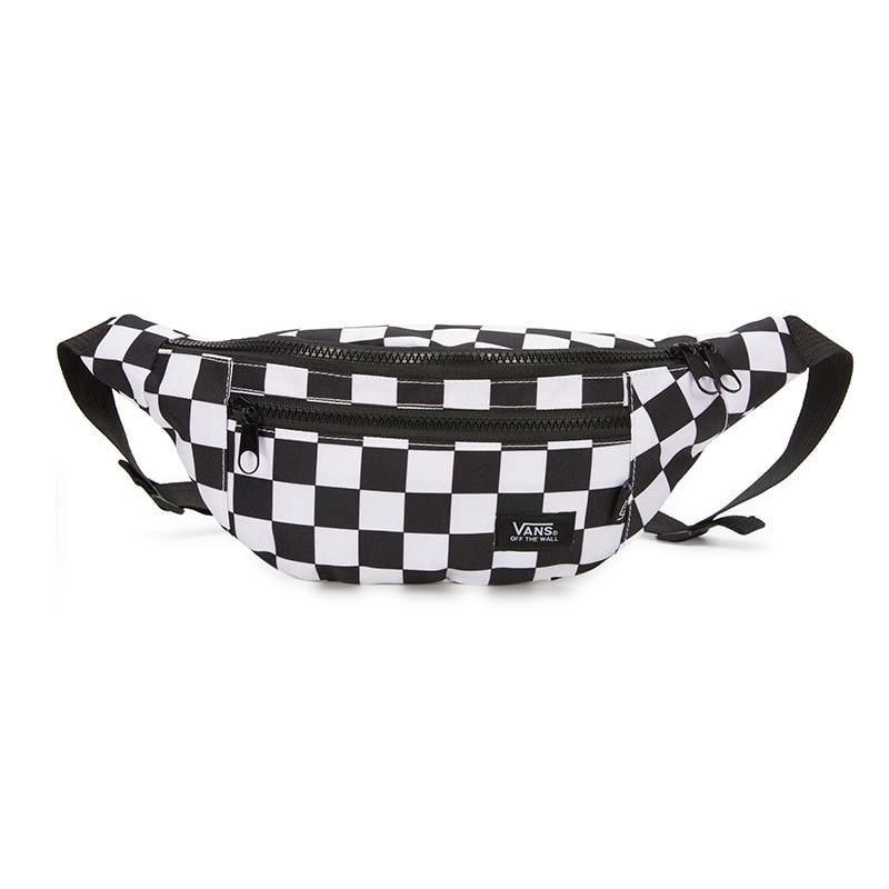 Women Brand Waist Bag Fanny Pack Canvas Belt Bag Plaid Female  Banana Bum Bag For Men Hip Hop Phone Money Chest Bags For Women