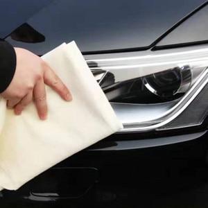 Image 2 - Serviette de lavage de voiture en cuir Chamois 60x90CM, Super absorbante, verre de maison, chiffon de nettoyage de cuisine à séchage rapide