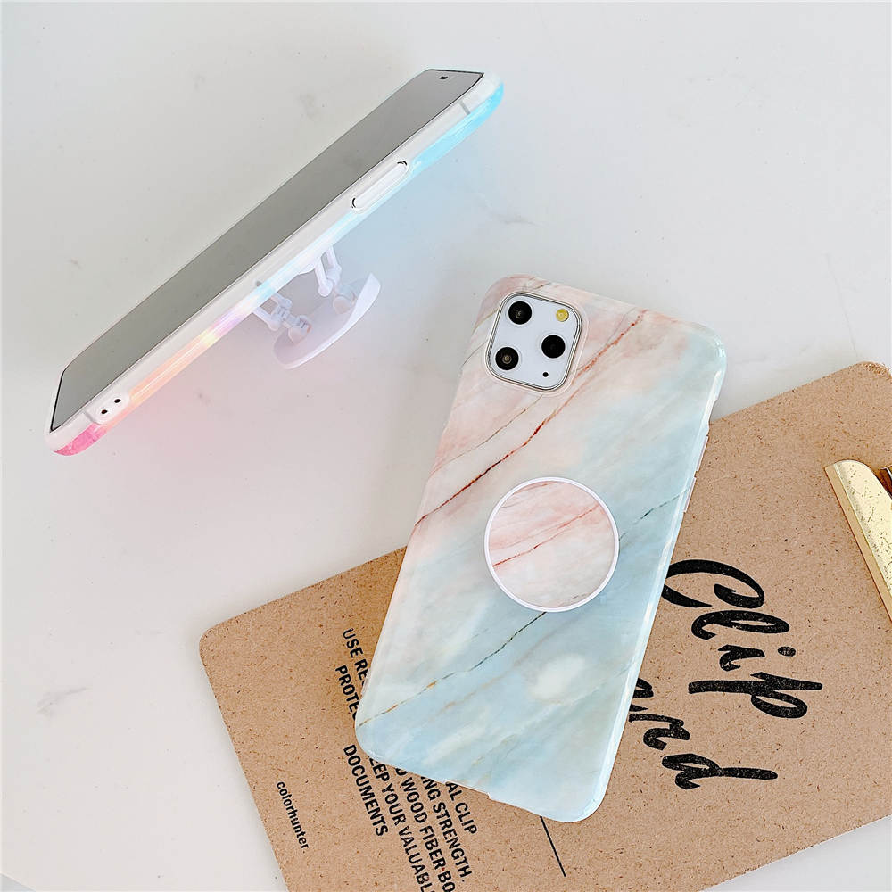Luxury Marble Stand Phone Back Cover Shell For iPhone 11 Pro X XR XS Max 7 8 6 6S