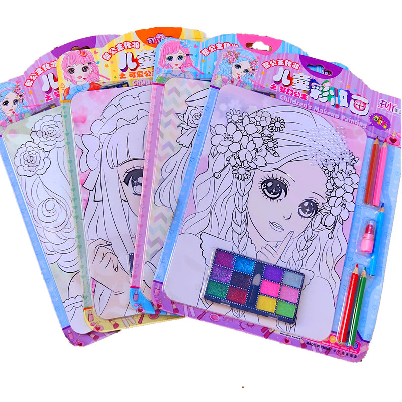 Girls Princess Makeup Painting Drawing Toys DIY Coloring Makeup  Drawing Toy
