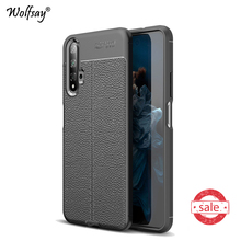 For Huawei Nova 5T Case Shockproof Litchi Pattern Soft Rubber Phone Case For Huawei Nova 5T Protecive Cover For Huawei Nova 5T m13s2561616a 5t