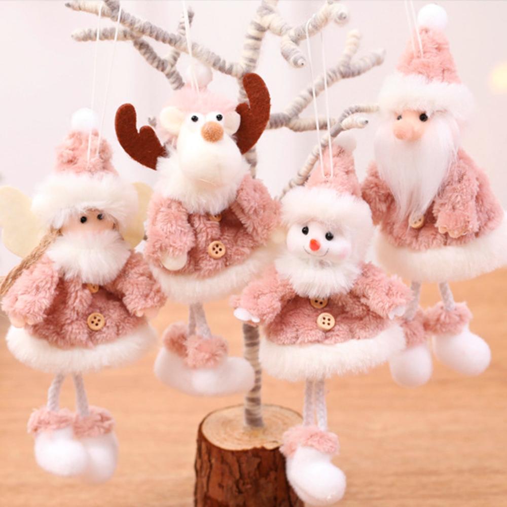 Noël ange poupée en peluche arbre de noël ornements joyeux noël décorations pour la maison 2019 noël Navidad cadeaux nouvel an 2020