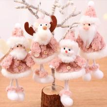 Christmas Angel Doll Plush Tree Ornaments Merry Decorations For Home 2019 Xmas Navidad Gifts New Year 2020