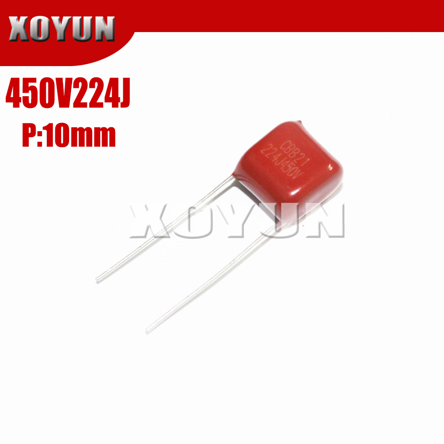 10PCS 450V224J 224J450V Pitch 10MM 450V 224J CBB Polypropylene Film Capacitor