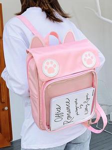 Transparent Backpack Ita-Bag School-Bags Japanese Lolita Cat Sweet for Girls 50pcs/Lot