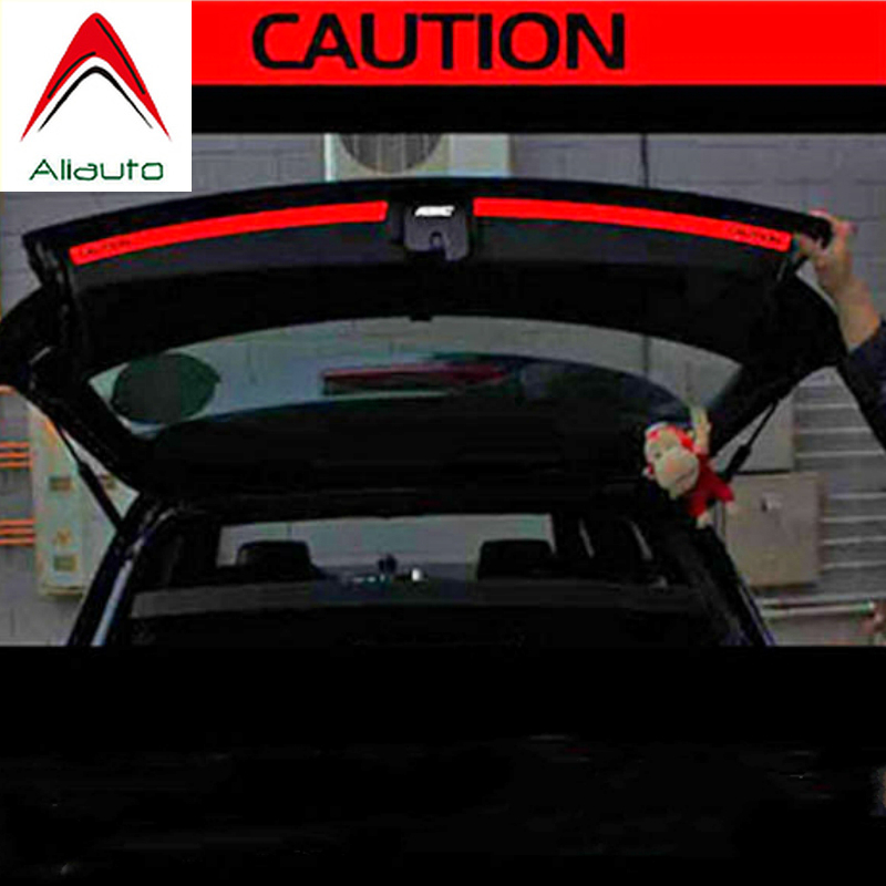 Aliauto 2 X Car Accessories Trunk of The Car Sticker and Decal Reflective Safety Warning Sticker for VW Golf 6 7 New Polo