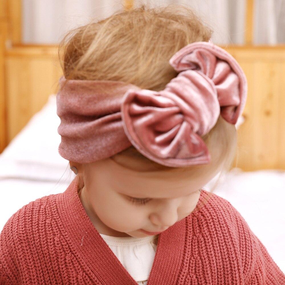 Baby Girl Headbands Newborn Hairband Headband Bandeau Bebe Fille Toddler Velvet Bow Knot Headwraps Turban Headwear Accessories