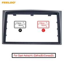 FEELDO Kit de instalación para tablero de coche, marco de paneles para Opel Astra(H)/Zafira(B)/Corsa(D), Kit de Marco Antara, 2Din ESTÉREO